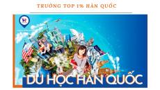 Danh sách trường Top 1% visa thẳng Hàn Quốc 2020